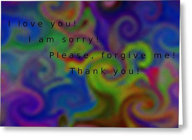 Forgiven Digital Art Greeting Cards - Cleansing prayer Greeting Card by Manuela Constantin
