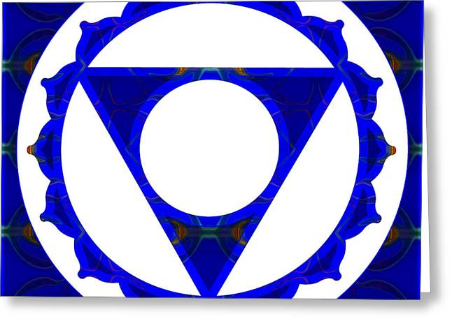 Vishuddha Greeting Cards - Clear Channels Of Blue Abstract Chakra Art by Omaste Witkowski Greeting Card by Omaste Witkowski