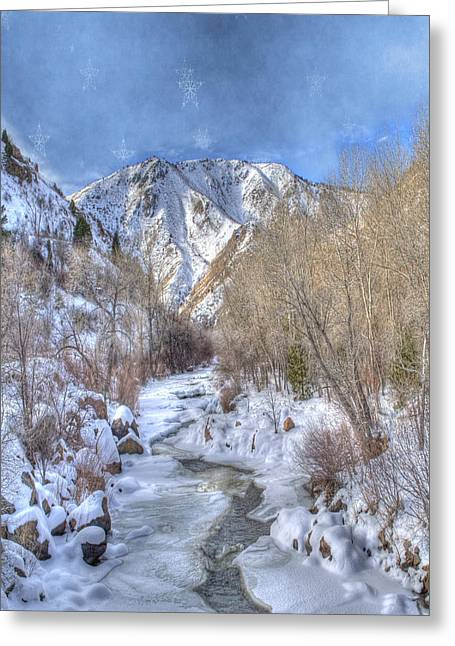 Clear Creek In The Winter Greeting Card by Juli Scalzi