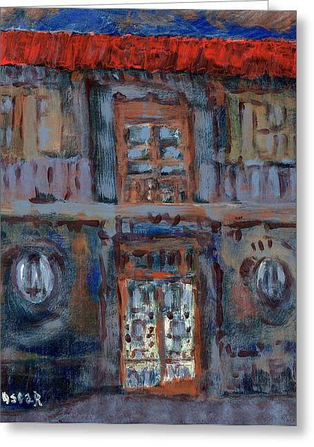 Prague Paintings Greeting Cards - Clear Evening  Greeting Card by Oscar Penalber