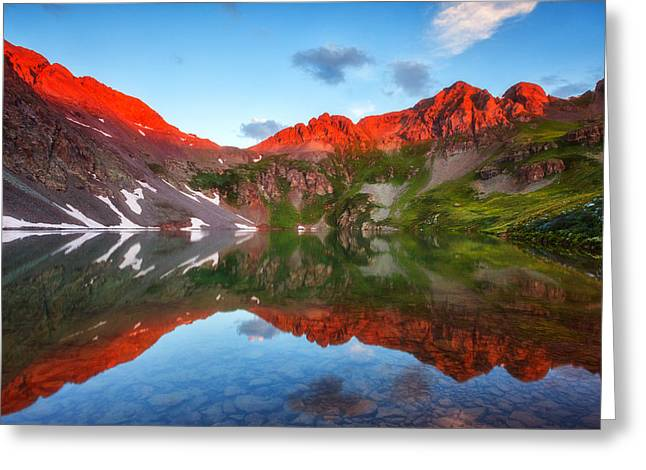 Clear Lake Alpenglow Greeting Card by Darren  White