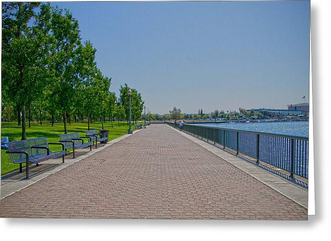 Stockton Greeting Cards - Clear Sky Greeting Card by Miguel  Uribe