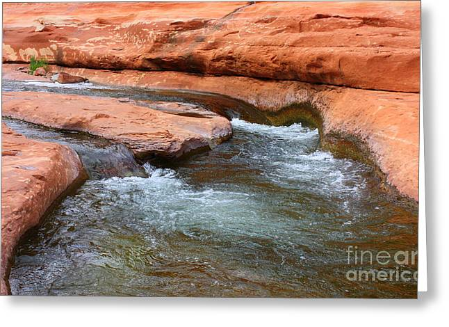 Clear Water at Slide Rock Greeting Card by Carol Groenen