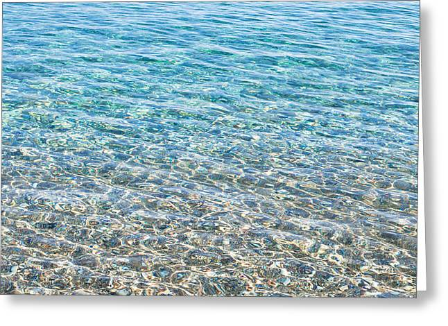 Background Greeting Cards - Clear water Greeting Card by Tom Gowanlock