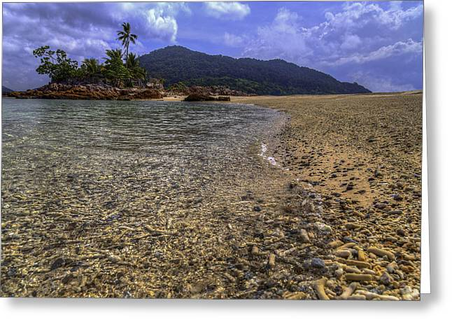 Redang Greeting Cards - Clear Waters Greeting Card by Mario Legaspi