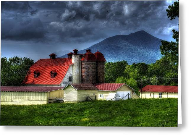 Cattle-shed Greeting Cards - Clearing after a Storm Greeting Card by Steve Hurt