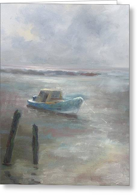 Apalachicola Seafood Greeting Cards - Clearing Fog Greeting Card by Susan Richardson