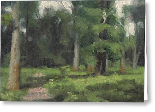 Fontainebleau Forest Greeting Cards - Clearing in Bois Gauthier - Eclaircie en Bois Gauthier Greeting Card by David Ormond