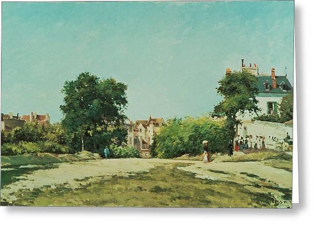 France 1874-1886 Greeting Cards - Clearing of the old cemetery in Pontoise Greeting Card by Camille Pissarro