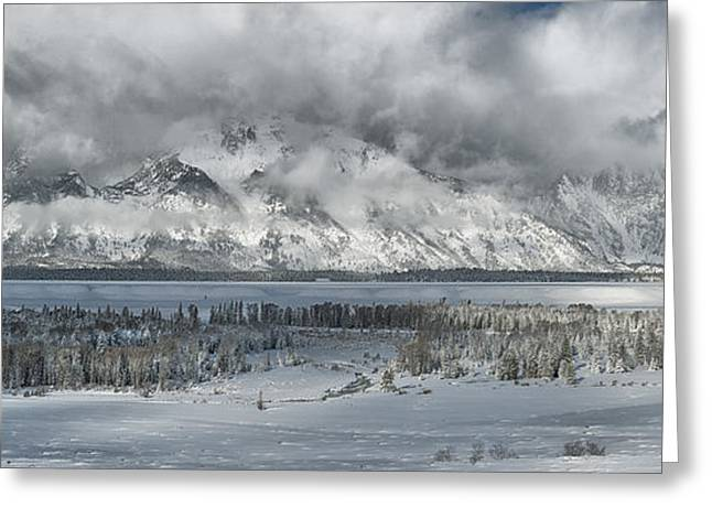 Clearing Skies In The Grand Tetons Greeting Card by Sandra Bronstein