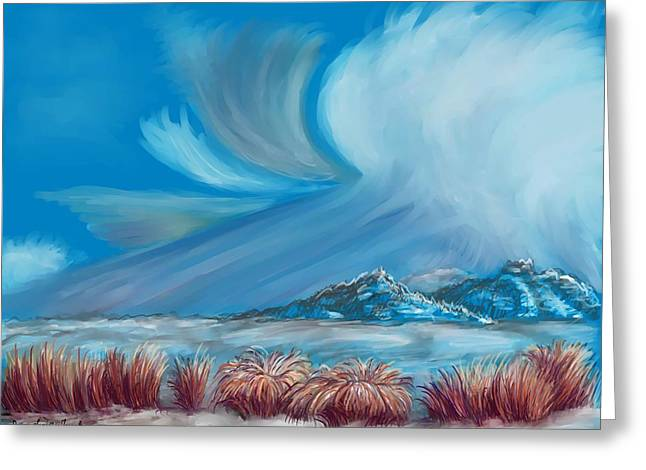 Formation Pastels Greeting Cards - Clearing Snowstorm  Greeting Card by Dawn Senior-Trask