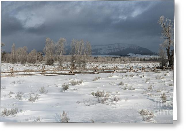 Storm Prints Photographs Greeting Cards - Clearing Storm in the Tetons Greeting Card by Sandra Bronstein