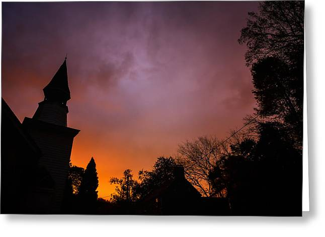 Catonsville Greeting Cards - Clearing Storm Over Oella Greeting Card by Geoffrey Baker