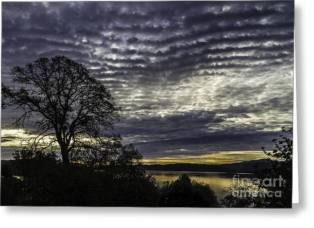 Sunrise Over California Greeting Cards - Clearlake Sunrise Greeting Card by Mitch Shindelbower