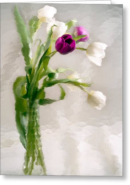 Glass Vase Greeting Cards - Clearly Different Greeting Card by Penny Lisowski
