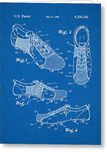Cleats Drawings Greeting Cards - Cleats Greeting Card by Salvatore Lorenzen
