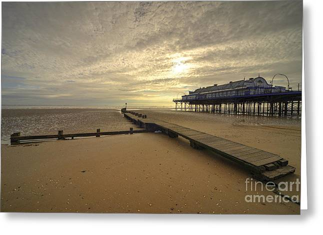 North Sea Greeting Cards - Cleethorpes Pier  Greeting Card by Rob Hawkins