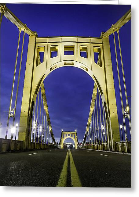 Clemente Greeting Cards - Clemente Bridge Arches Greeting Card by John Duffy