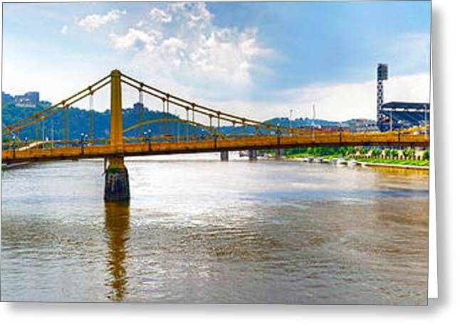 Clemente Greeting Cards - Clemente Bridge to PNC Park Greeting Card by C H Apperson