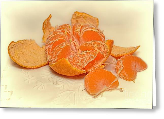 Tangerines Greeting Cards - Clementine Greeting Card by Olga Hamilton