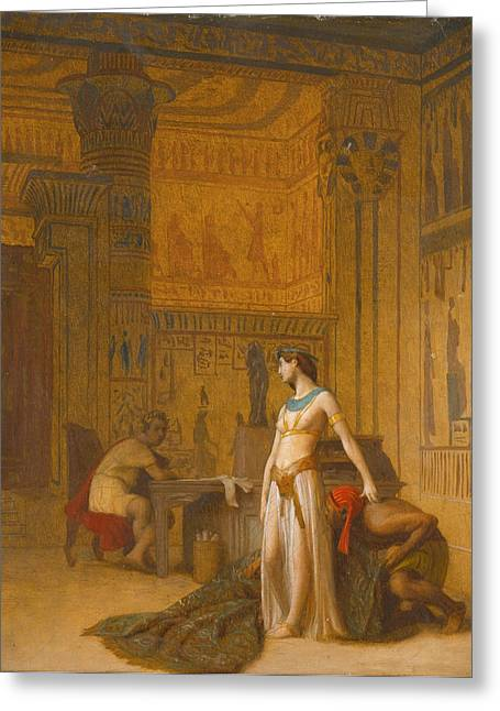 Gerome Greeting Cards - Cleopatra and Caesar Greeting Card by Jean-Leon Gerome