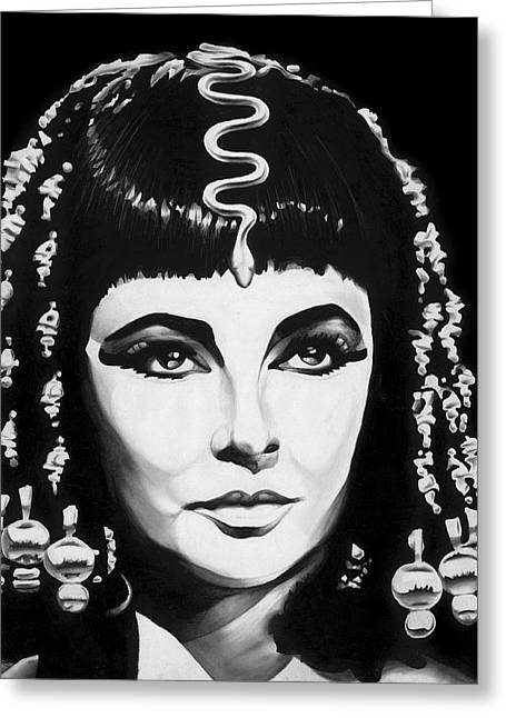 Jeff Drawings Drawings Greeting Cards - Cleopatra Greeting Card by Jeff Stroman