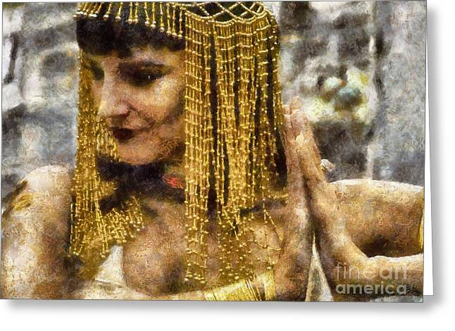 Pharaoh Digital Art Greeting Cards - Cleopatra Greeting Card by Nishanth Gopinathan
