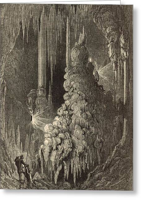 Appleton Art Greeting Cards - Cleopatras Needle and Anthonys Pillar 1872 Engraving Greeting Card by Antique Engravings