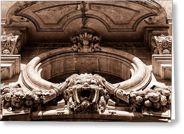 Outdoor Theater Photographs Greeting Cards - Clermont Architecture Toned Greeting Card by Nomad Art And  Design