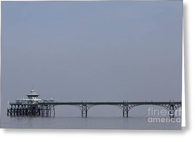 Clevedon Greeting Cards - Clevedon pier in Somerset England Greeting Card by Robert Preston
