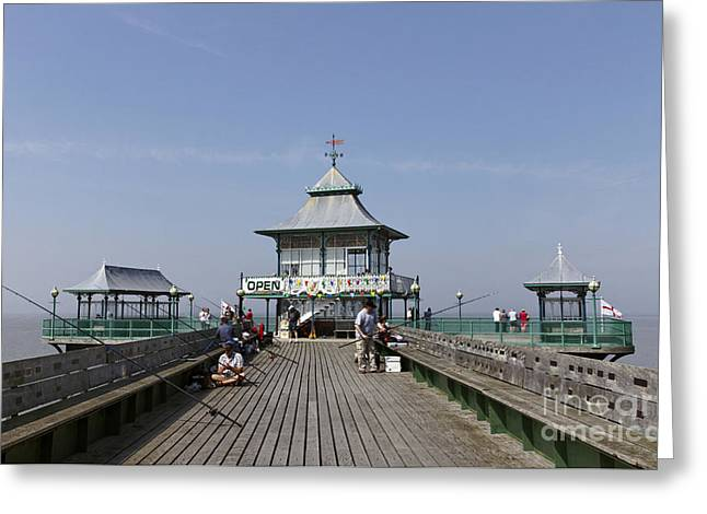 Clevedon Greeting Cards - Clevedon Pier Somerset England Greeting Card by Robert Preston