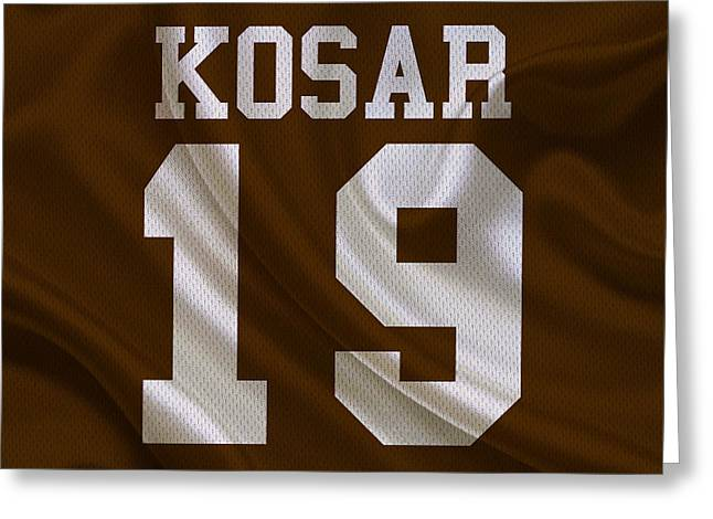 Cleveland Browns Bernie Kosar Greeting Card by Joe Hamilton