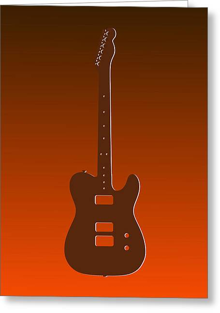 Concert Bands Photographs Greeting Cards - Cleveland Browns Guitar Greeting Card by Joe Hamilton