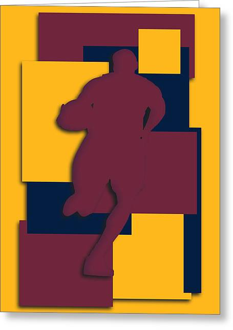 Cleveland Cavaliers Greeting Cards - Cleveland Cavaliers Art Greeting Card by Joe Hamilton
