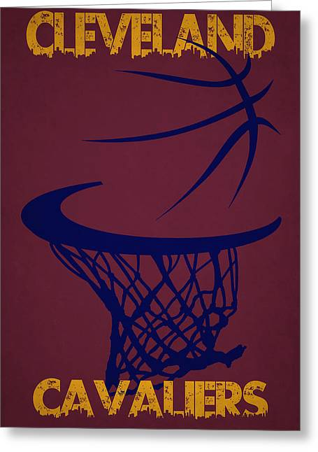 Cleveland Cavaliers Greeting Cards - Cleveland Cavaliers Hoop Greeting Card by Joe Hamilton