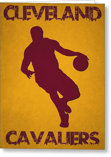 Lebron James Greeting Cards - Cleveland Cavaliers Lebron James Greeting Card by Joe Hamilton