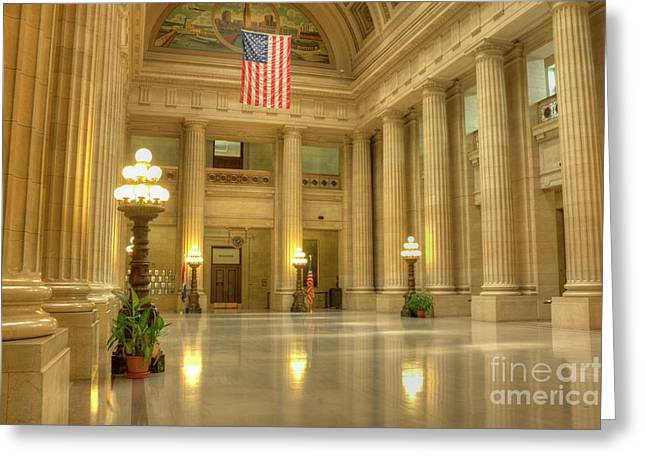 Cleveland City Hall Greeting Card by David Bearden