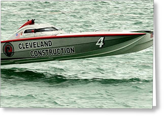 Cleveland Photographs Greeting Cards - Cleveland Construction Greeting Card by Jon Neidert