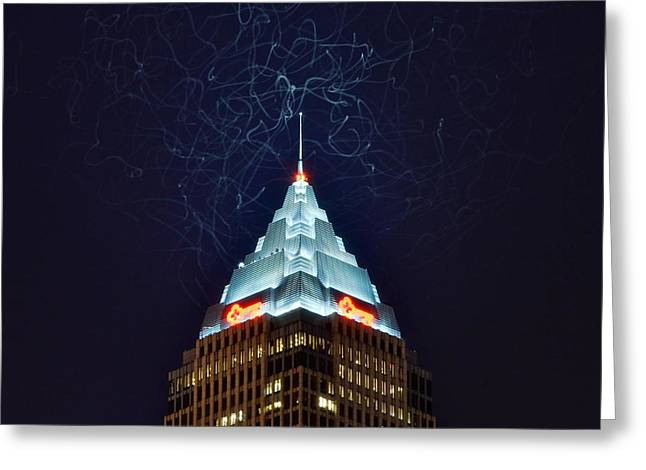 One-of-a-kind Greeting Cards - Cleveland Electrified Greeting Card by Frozen in Time Fine Art Photography