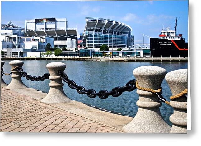 Goalpost Greeting Cards - Cleveland Glory Greeting Card by Frozen in Time Fine Art Photography