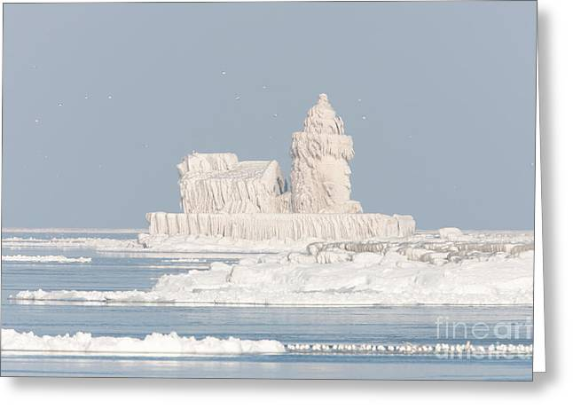 Clarence Greeting Cards - Cleveland Harbor West Pierhead Light II Greeting Card by Clarence Holmes