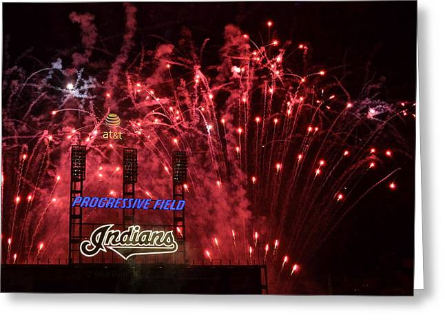 Cleveland Indians Greeting Card by Frozen in Time Fine Art Photography