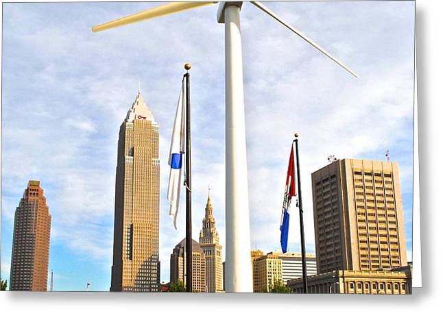 Cleveland Ohio Science Center Greeting Card by Frozen in Time Fine Art Photography