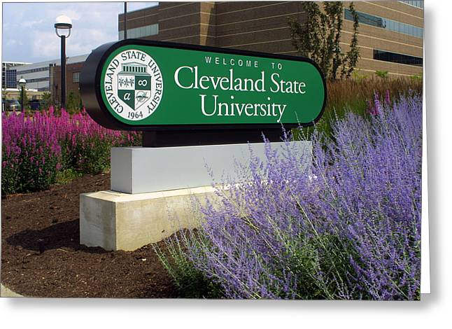 Csu Greeting Cards - Cleveland State University Greeting Card by William Ragan