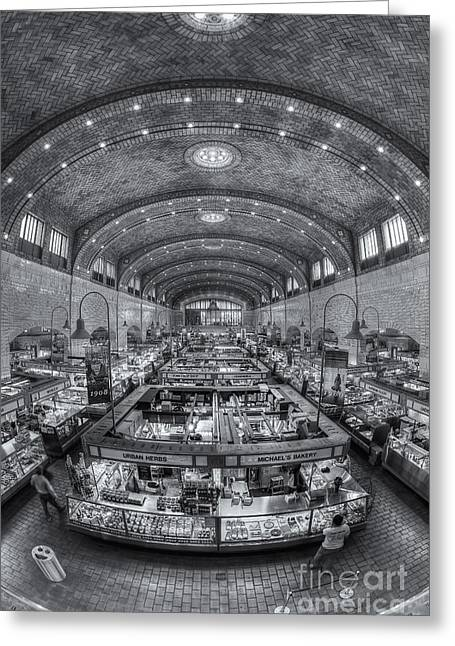 Food Vendors Greeting Cards - Cleveland West Side Market II Greeting Card by Clarence Holmes