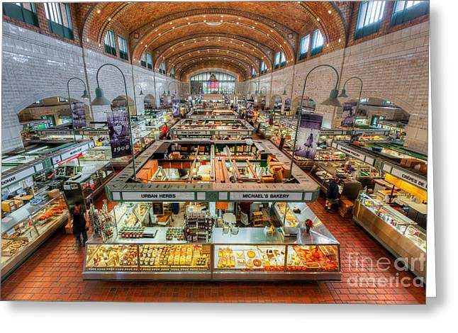 Ethnic Food Greeting Cards - Cleveland West Side Market V Greeting Card by Clarence Holmes
