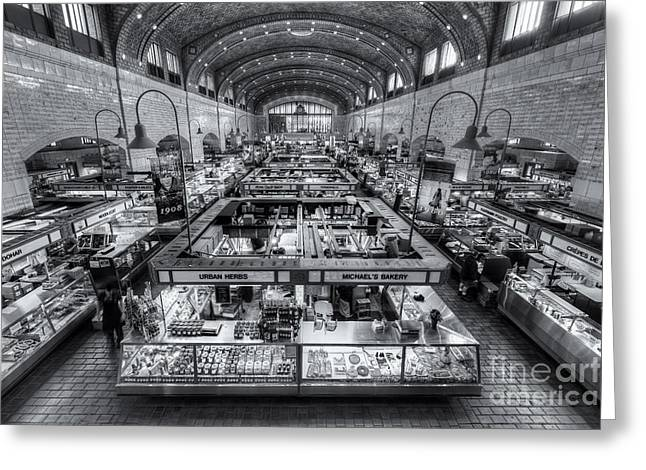 Food Vendors Greeting Cards - Cleveland West Side Market VI Greeting Card by Clarence Holmes