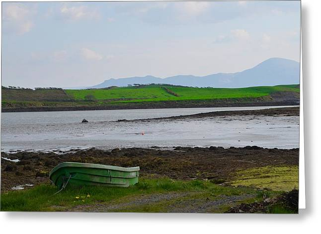 Rowboat Digital Art Greeting Cards - Clew Bay County Mayo Ireland Greeting Card by Bill Cannon