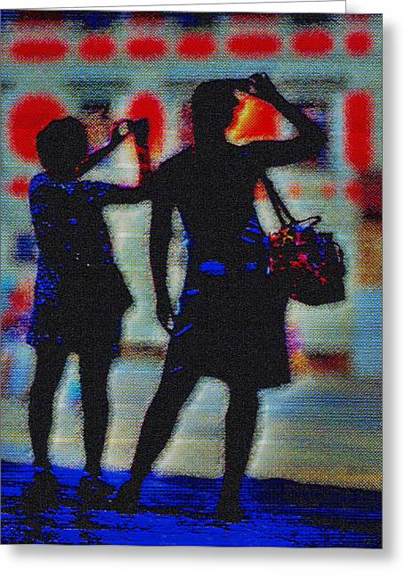 Click Click Greeting Card by Mark Brooks