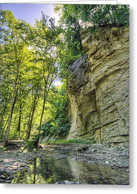 Rural Indiana Greeting Cards - Cliff Greeting Card by Alexey Stiop